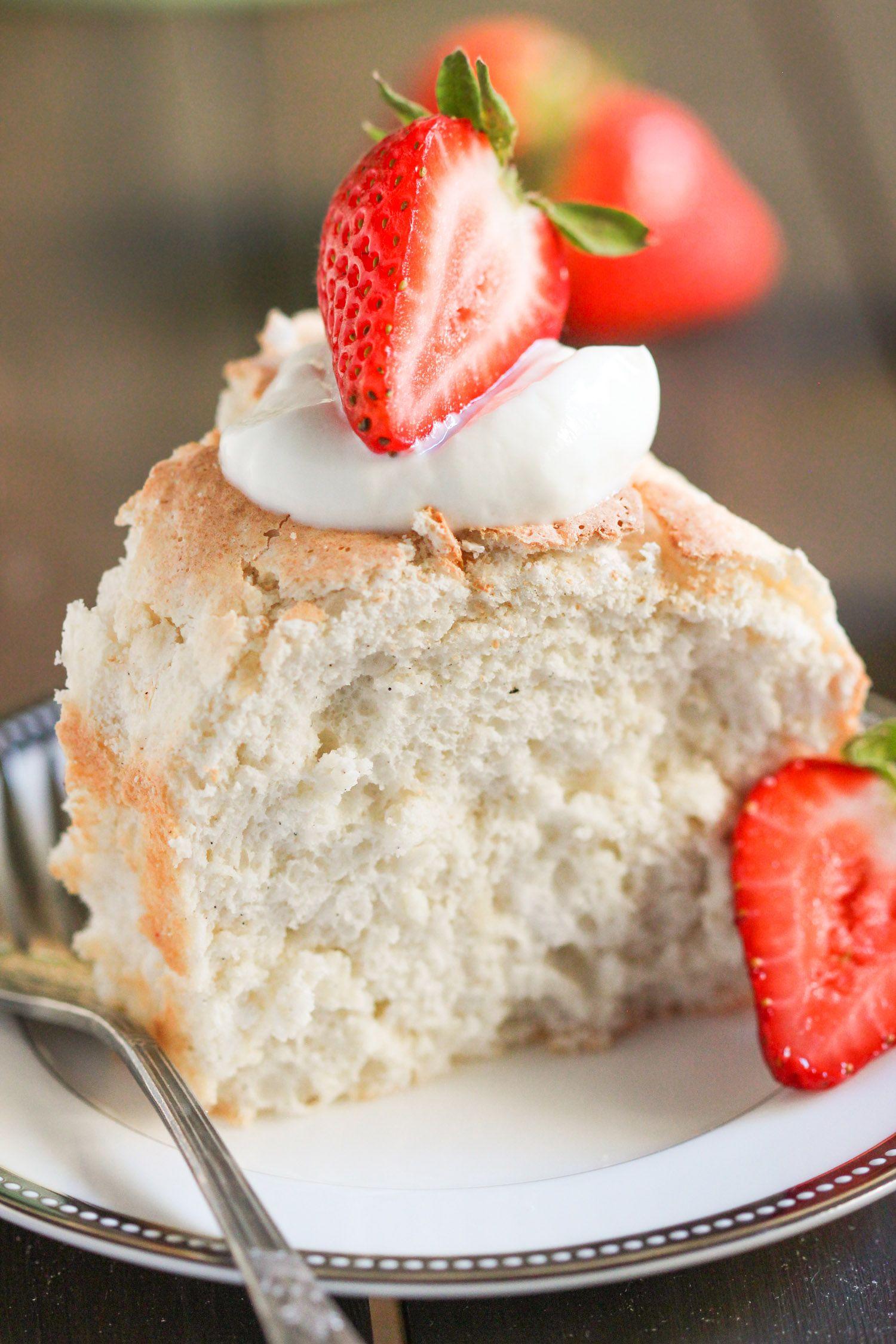 Healthy angel food cake recipe dessert recipes food
