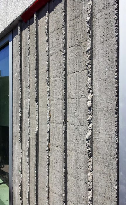 Vertical Board Form Concrete Detail From Dba Board Formed Concrete Concrete Wall Concrete Texture