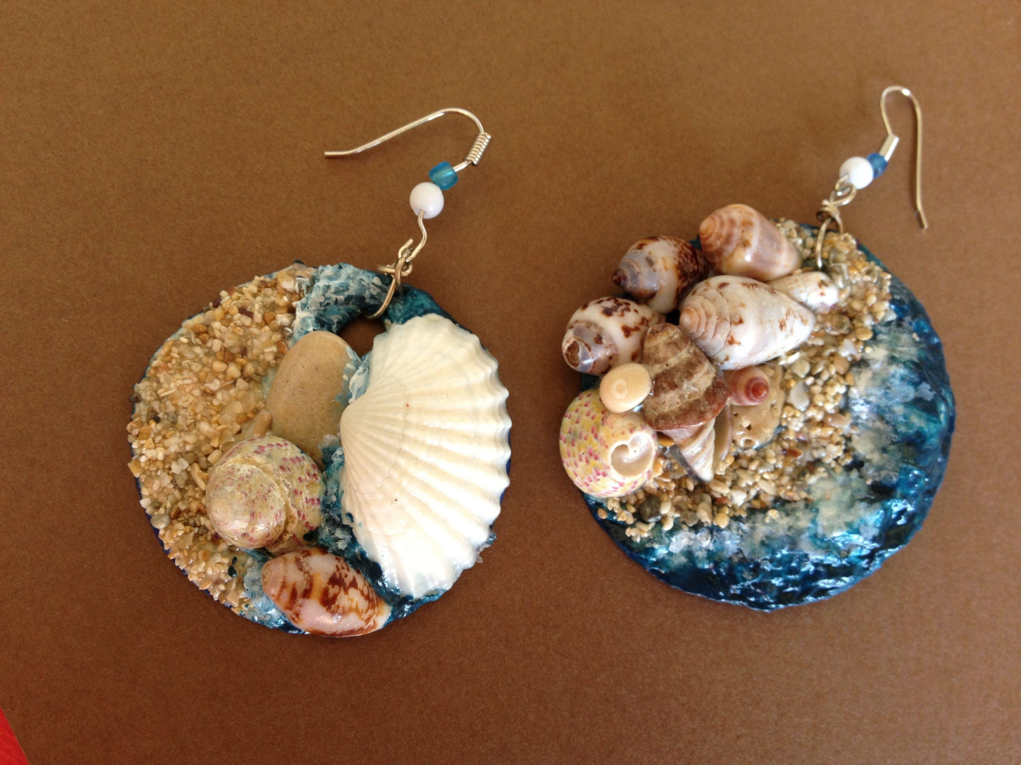 Orecchini conchiglie e cartapesta is part of Diy earrings - Visita l'articolo per saperne di più