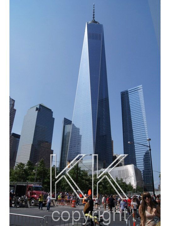 The Freedom Tower in Manhattan!! It's SO tall - 102 stories tall!