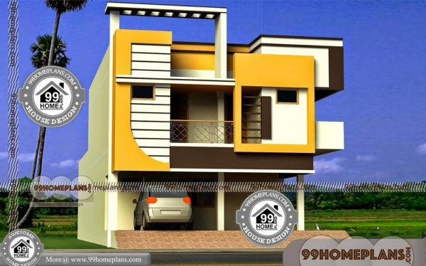 Home Exterior Design Indian Style 45 Top Double Storey Home Plans