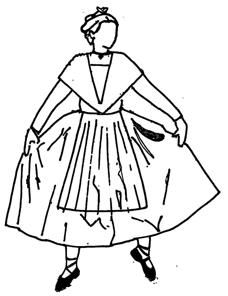 Danseuse dessin noir costume du pays d 39 arles photos - Dessin costume ...