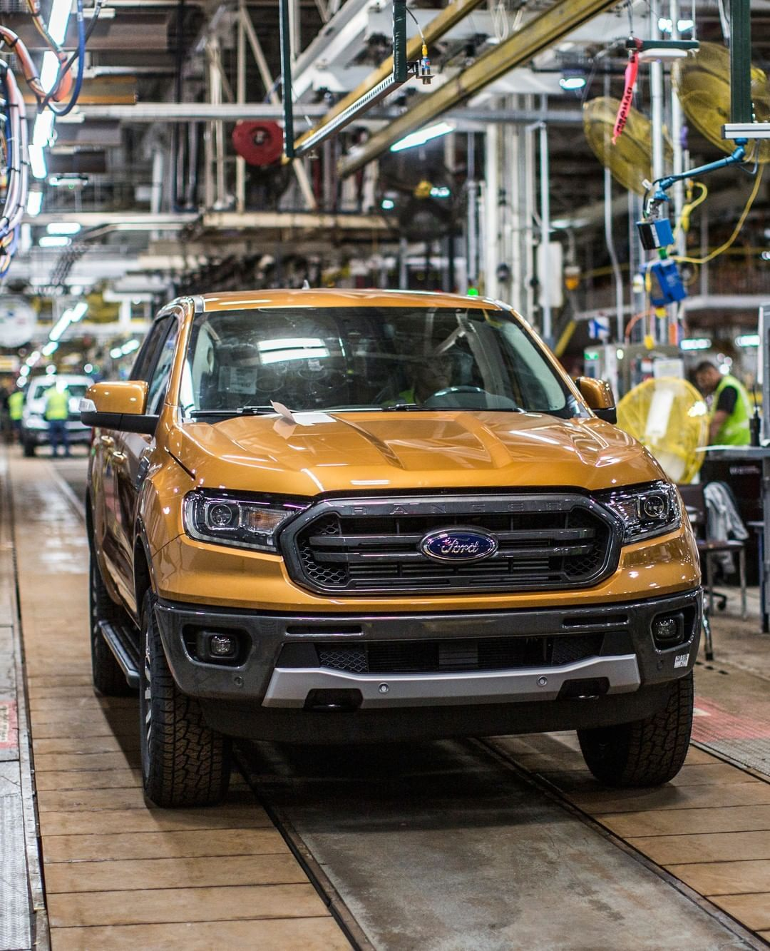 The New Ford Ranger Coming Off The Line Motortrend On Instagram The New Ford Ranger Ford Ranger Ranger
