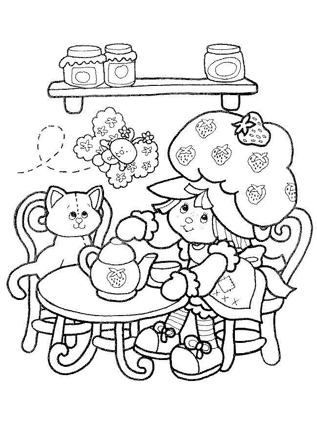 Coloriage charlotte aux fraises sirene colorier dessin imprimer dessins colorier - Sirene a colorier et imprimer ...