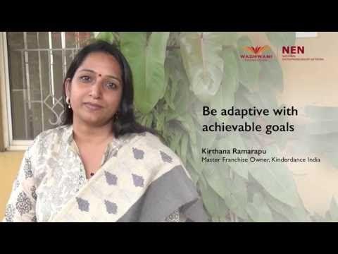 Be adaptive with achievable goals - Kirthana Ramarapu, KinderDance India…