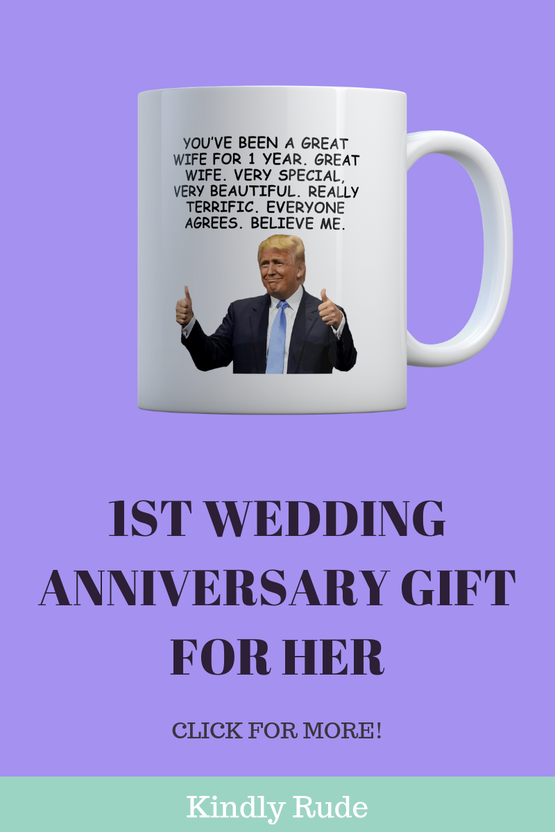 This Is Really The Funniest First Wedding Anniversary Gift Ever If You Need A Gift For 1y Anniversary Gifts Paper Gifts Anniversary Marriage Anniversary Gifts