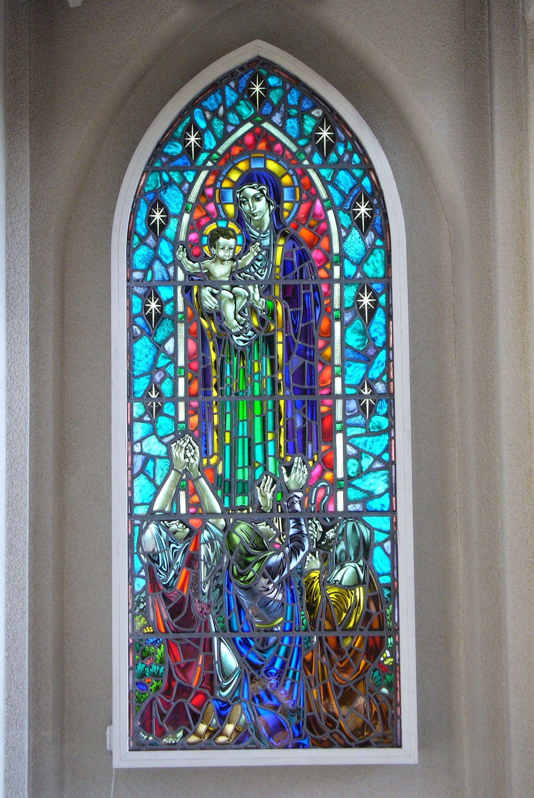 Hallgrimskirkja Kirchenfenster Reykjavik Island Strassburg Schwarzwald Vogesen