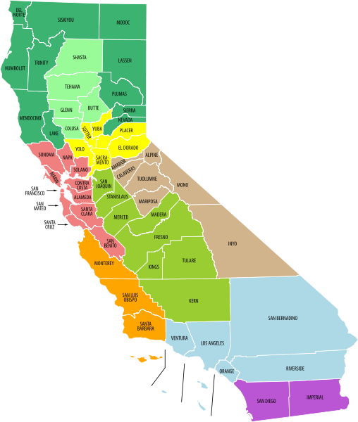 Love This State Not Only Does One Of My Best Friends Live There But They Have The Best Weather California Map California Visit California