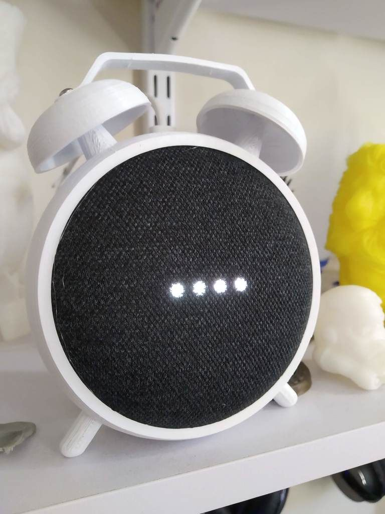 Google Home Mini Alarm Clock Holder By