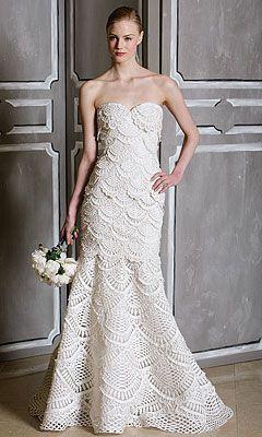 Vestidos de novia a crochet pinterest