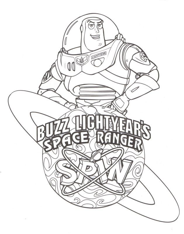 to infinity and beyons buzz waiting to be coloured in - Buzz Lightyear Coloring Pages Printable