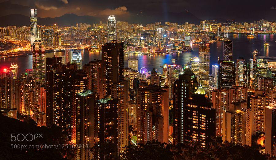 Hong Kong skyline by luckyphotographer Travel