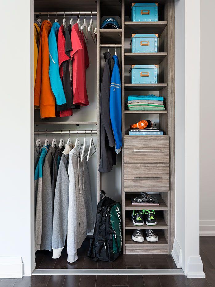 Classic Closet Organizer In A Condo Closet Organization Wall
