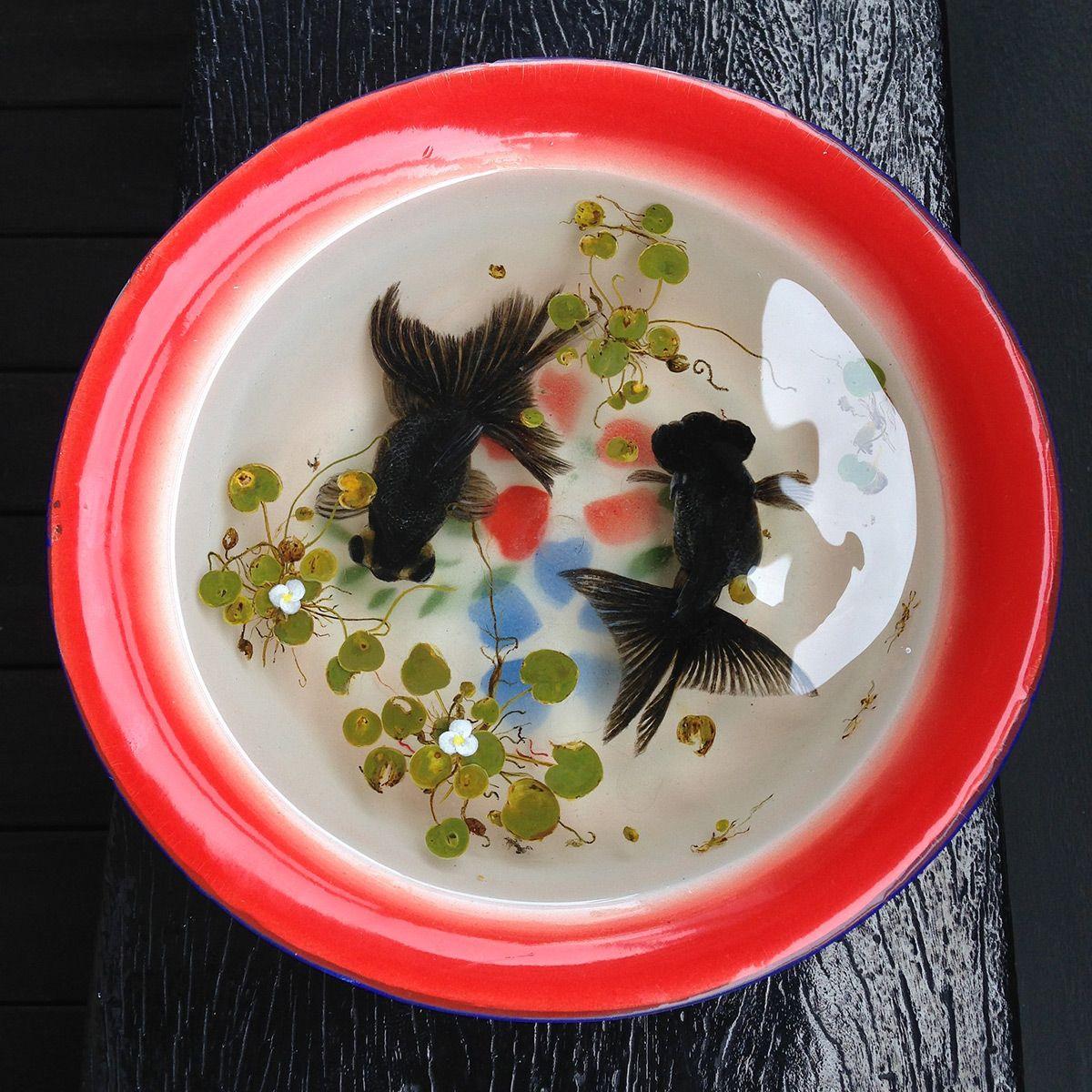 New Aquatic Wildlife Painted In Layers Of Resin By Keng Lye Keng - Incredible 3d goldfish drawings using resin