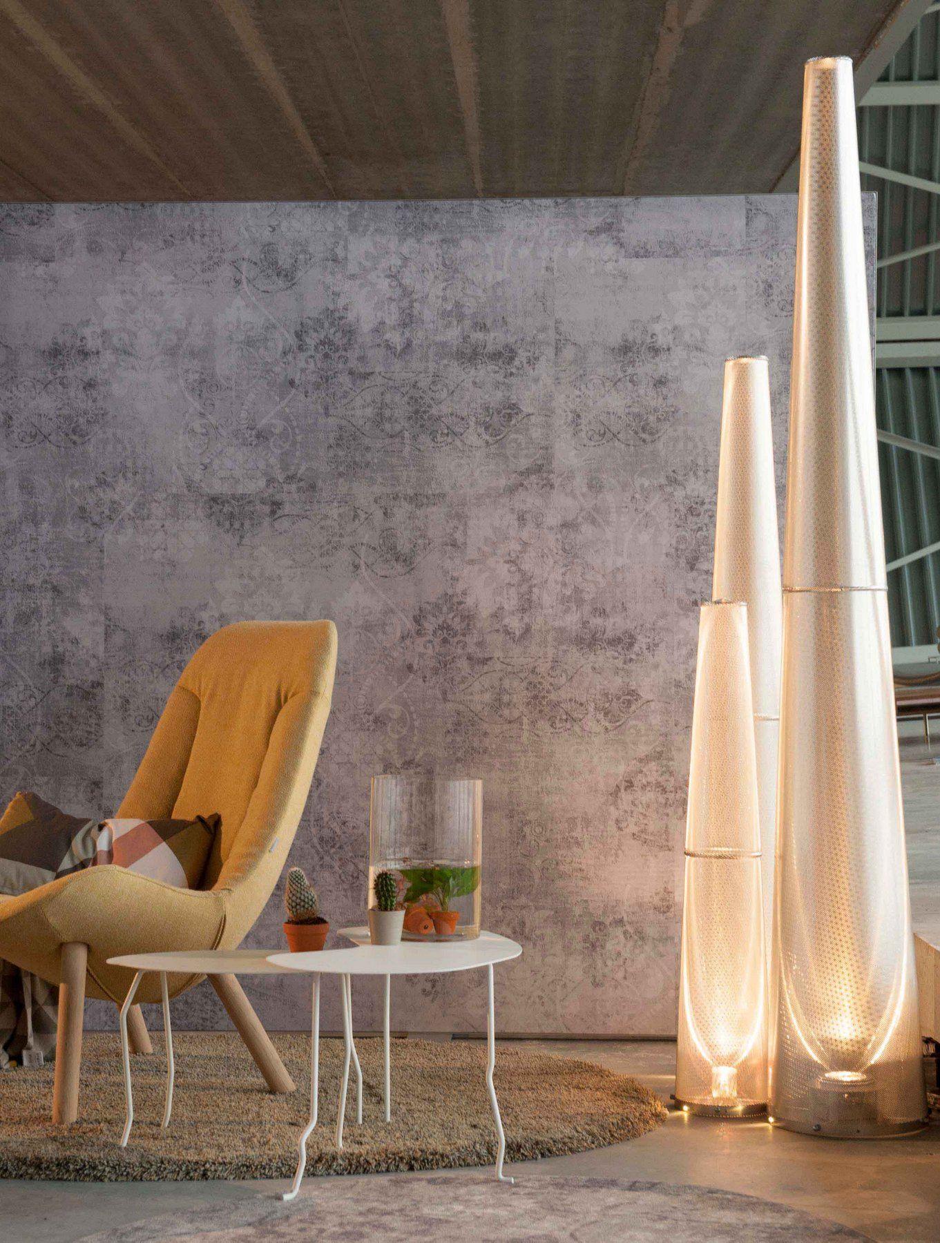 Led aluminium floor lamp with dimmer jet light by ferrolight design