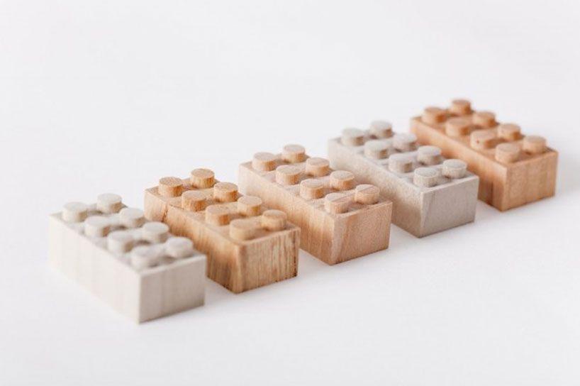 little icons of my childhood in wooden lego blocks by mokurokku - so cool.