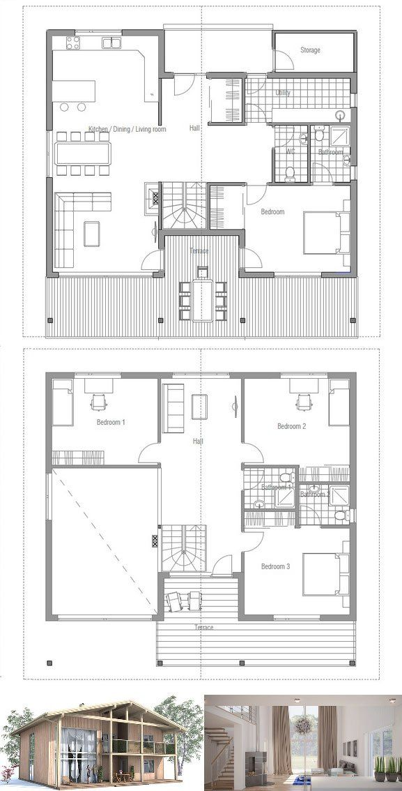 Modern House Ch53 Modern House Plans House Plans Dream House Plans