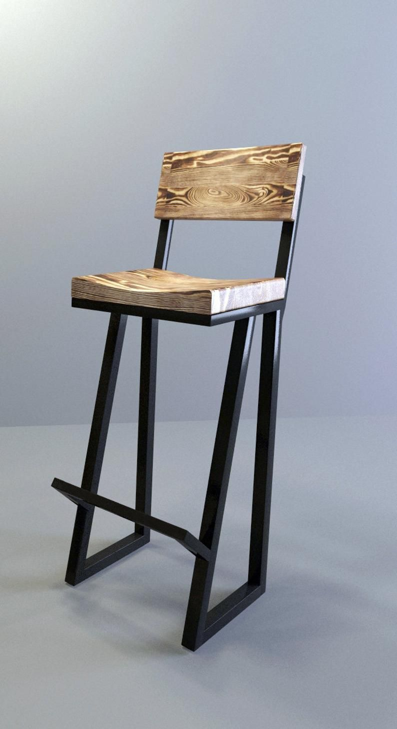 Metal Wood Bar Stool 36 Stool Barstool Chair Metal Stool Metal And Wood Bar Stool Modern Stool Kitchen Stool Counter Stool Wood Bar Stools Metal Wood Bar Stool Bar Stools