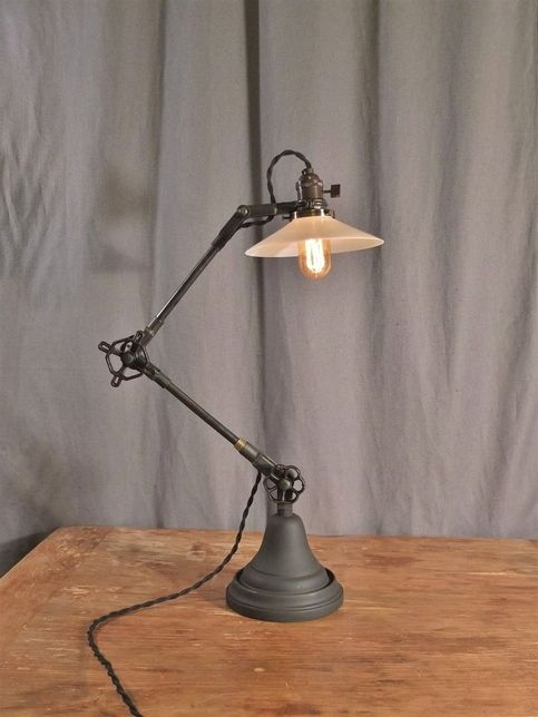 Vintage Industrial Style Desk Lamp From Dw Vintage Lighting Co Desk Lamp Vintage Industrial Desk Industrial Desk Lamp