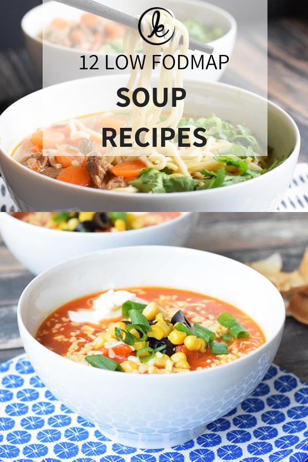 Low FODMAP soups - 12 simple low FODMAP soup recipes images
