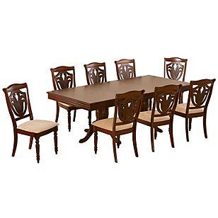 Cic juego de comedor extendible 8 sillas ascot juegos de for Juego de comedor de 8 sillas moderno