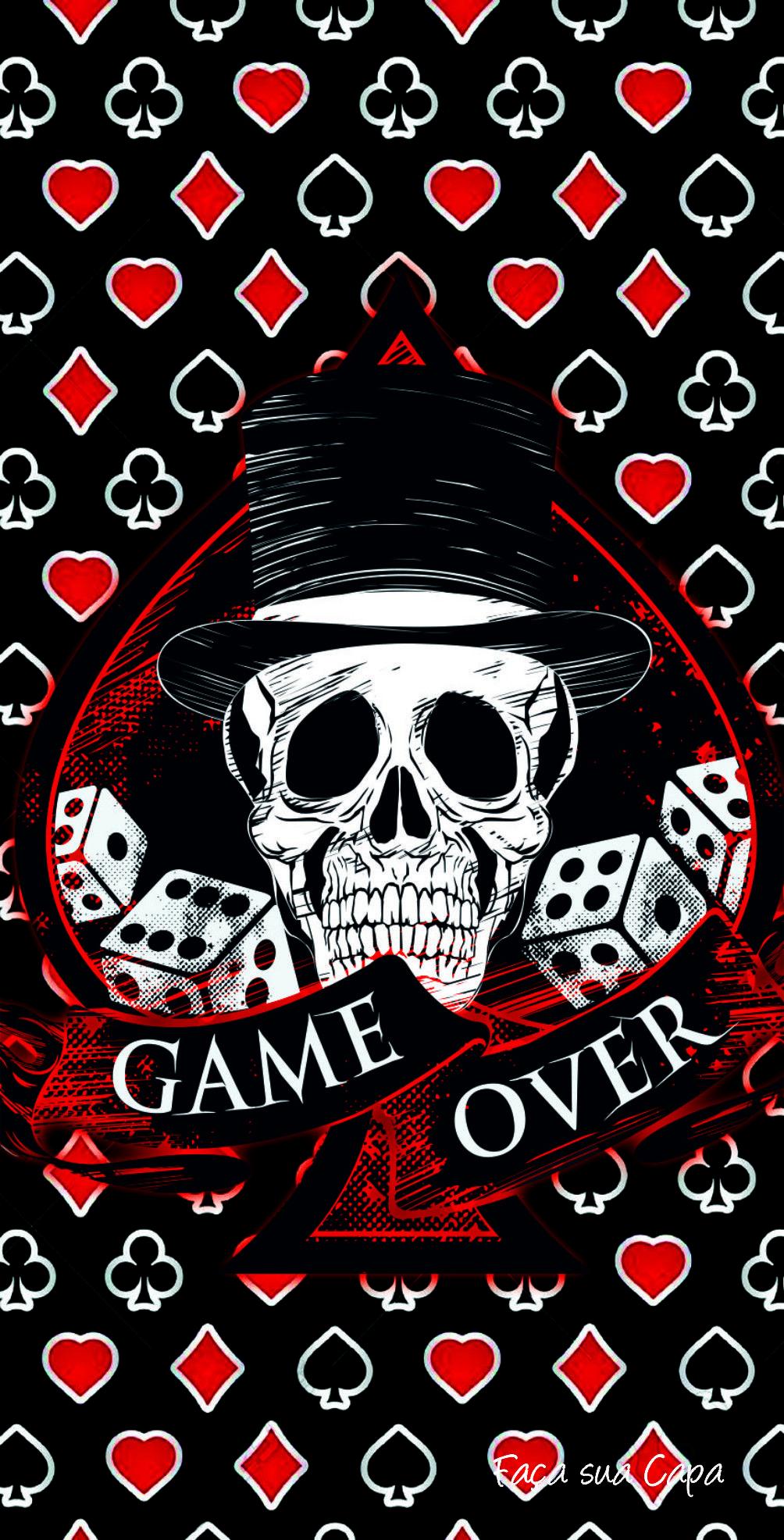 GAME OVER | Cool | Pinterest | Wallpaper, Skull wallpaper and Iphone wallpaper