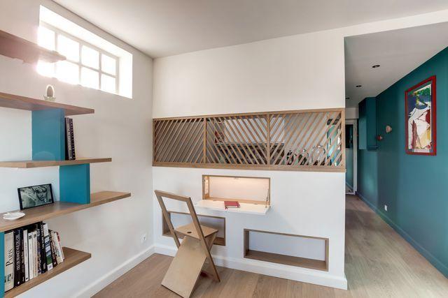 Appartement Paris 20 30 M2 Optimises Pour Une Etudiante Architecte Interieur Appartement Et Decoration Maison