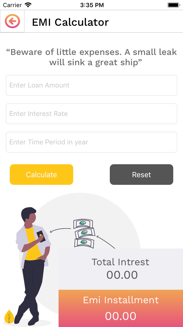 Emi Calculator Ios Source Code Coding Loan Calculator Source Code
