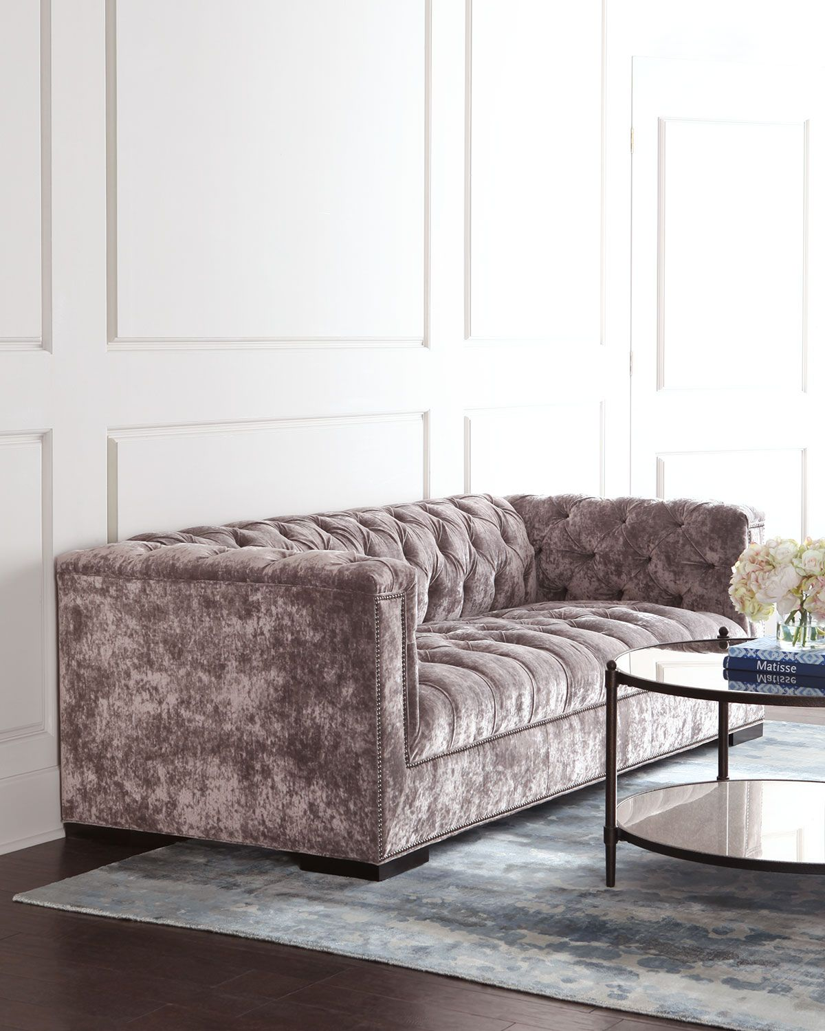 Old Hickory Tannery Cordette Tufted Sofa