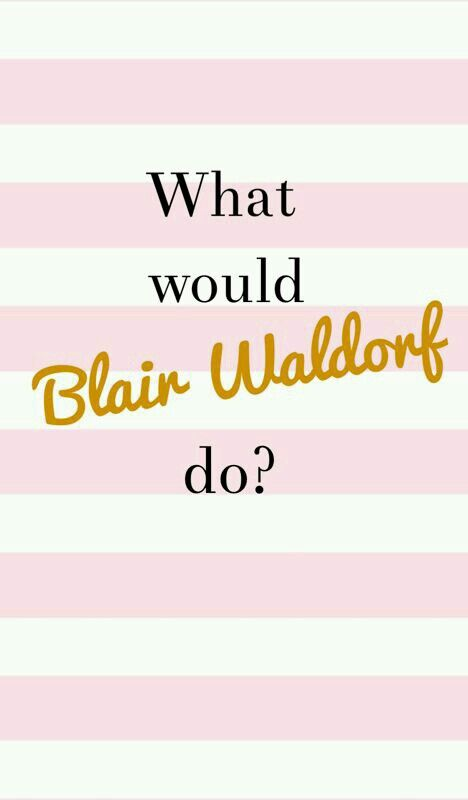 What would Blair??
