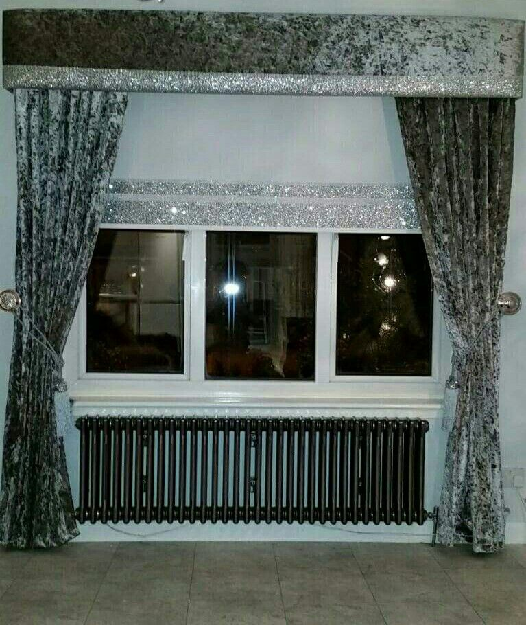 Crushed Velvet Pelmet Amp Curtains Curtains Bedroom