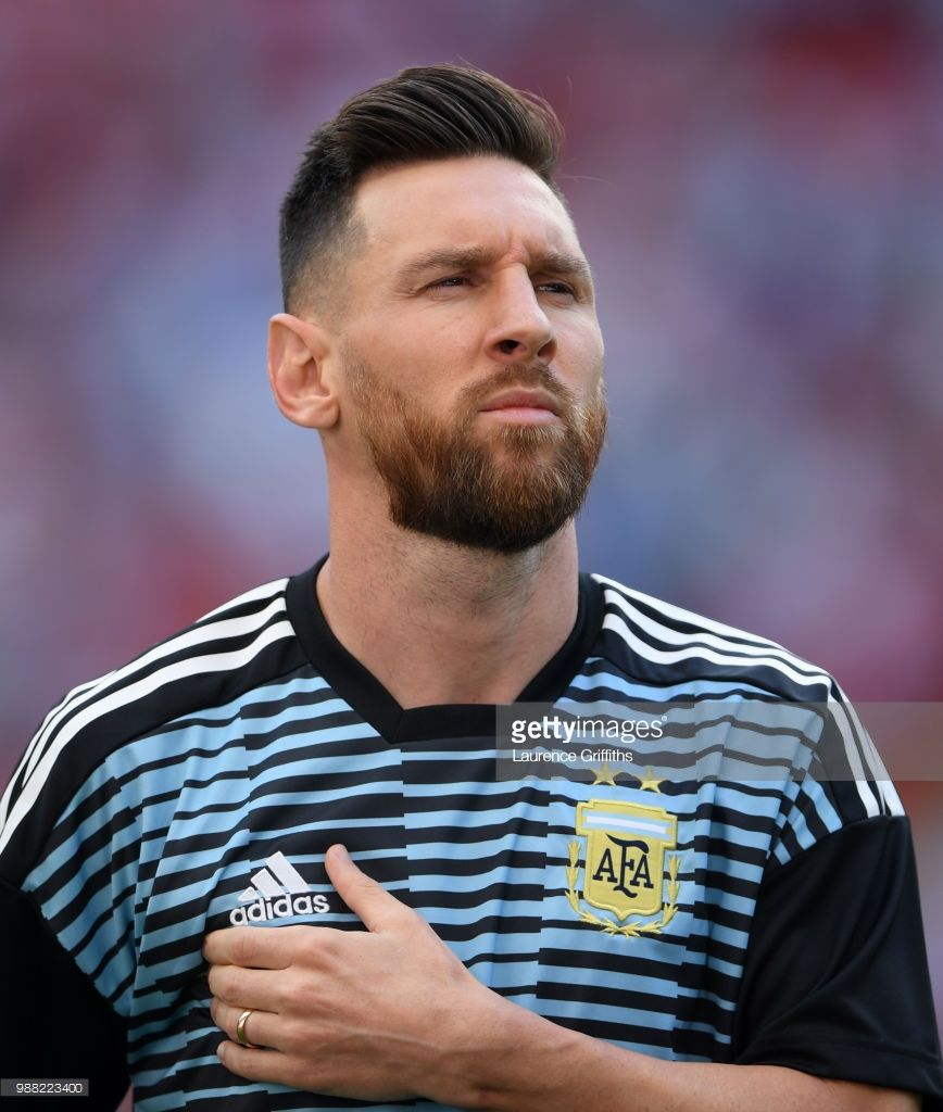 lionel messi of argentina looks on during the 2018 fifa world cup