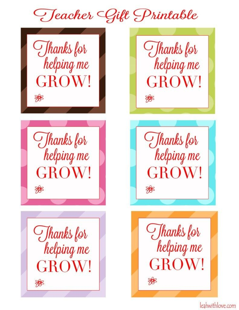 It's just an image of Priceless Thanks for Helping Me Grow Free Printable