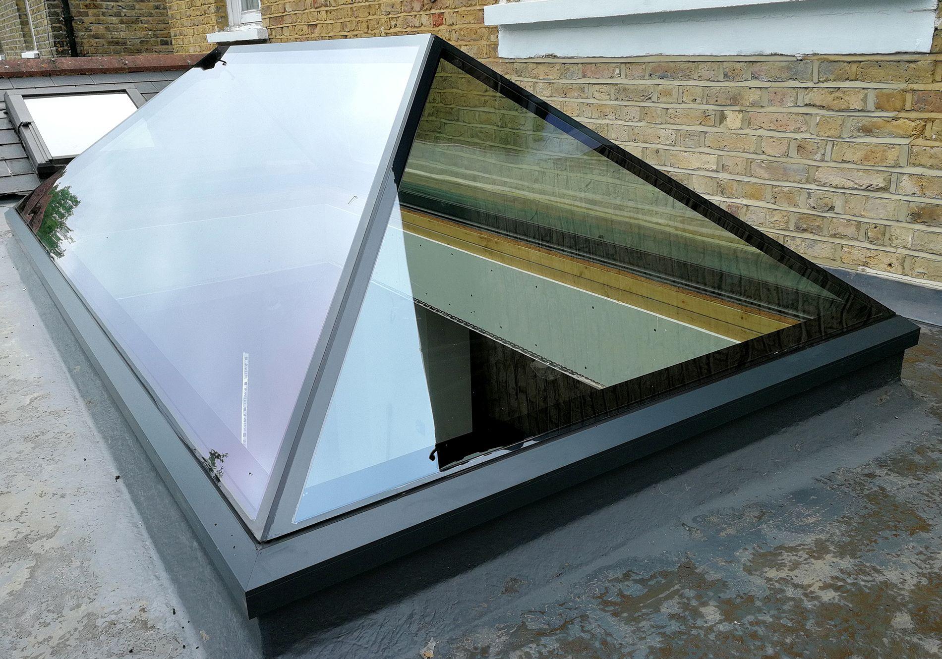 Impressive Pure Glass Roof Lantern For Twickenham Home