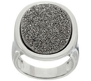 Drusy Quartz Sterling Silver Bold Ring