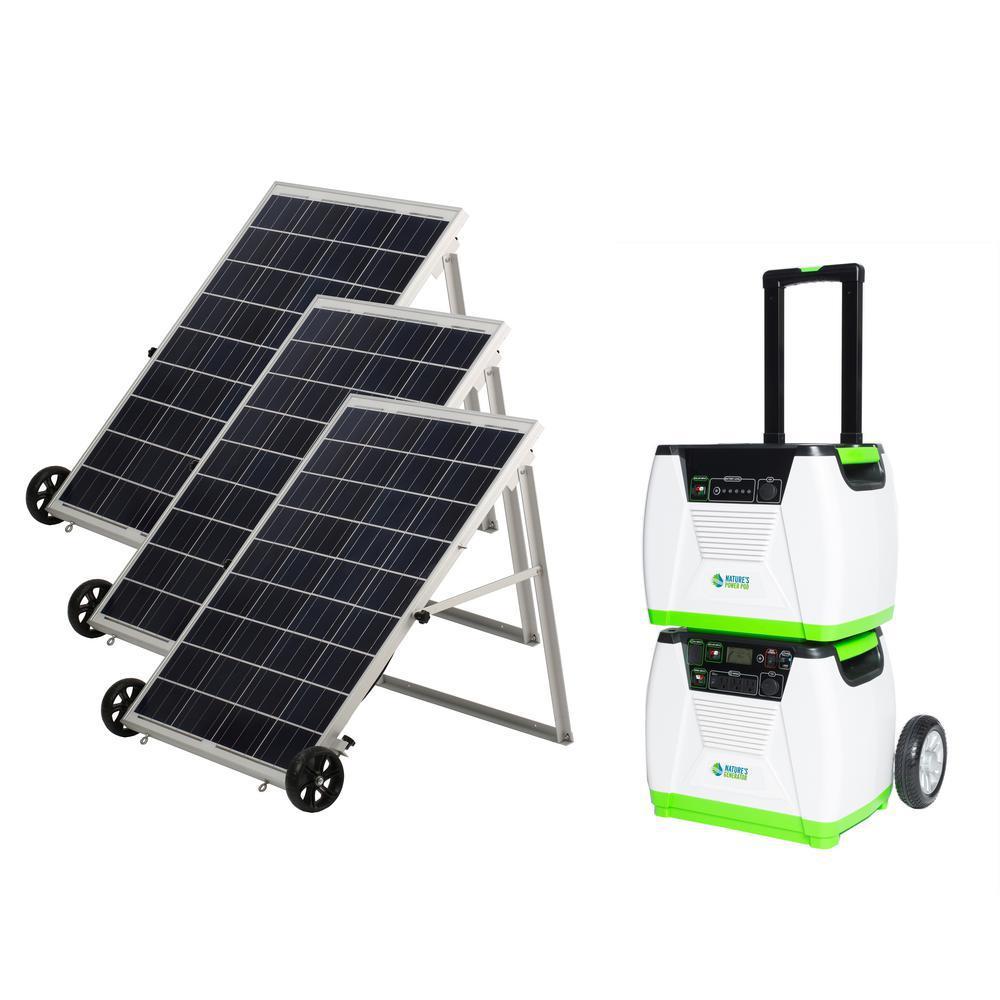 Nature S Generator 1800 Watt Solar Powered Portable Generator With Electric Start And Supplemental Nat In 2020 Solar Panels Solar Energy Panels Solar Powered Generator