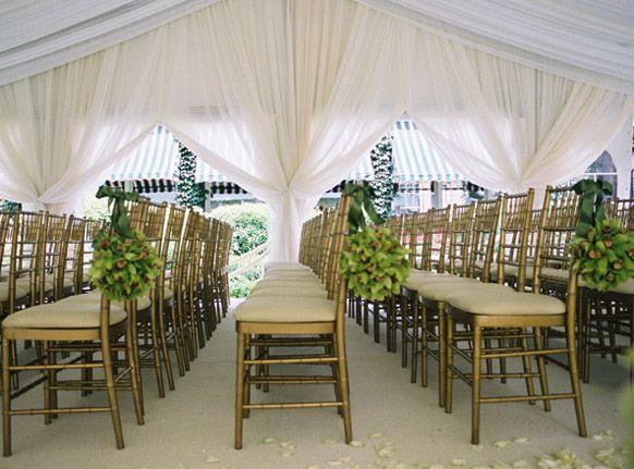 Tented wedding ceremony weddings romantique ceremony for Outdoor tent decorating ideas