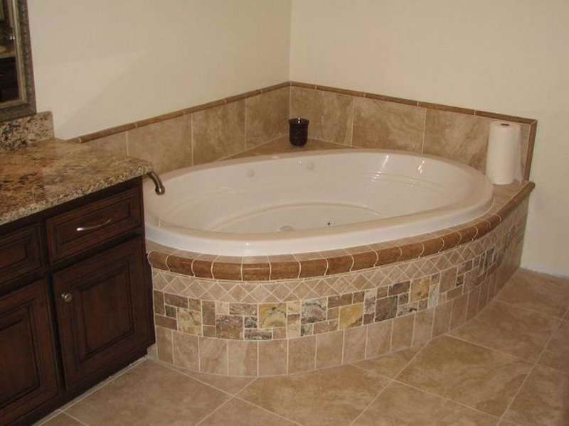 Bathroom Tile Ideas Around Bathtub bathroom corner tub tile flooring ideas | bathroom ideas