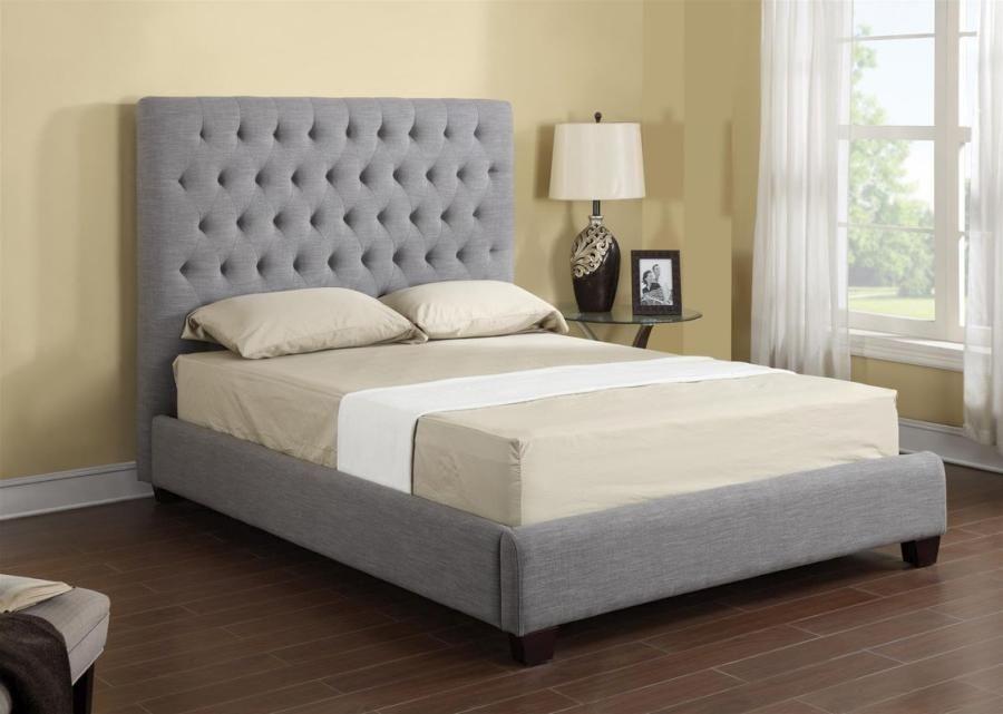 Emerald Home Furnishing Llc Sophia Upholstered Bed Queen Grey