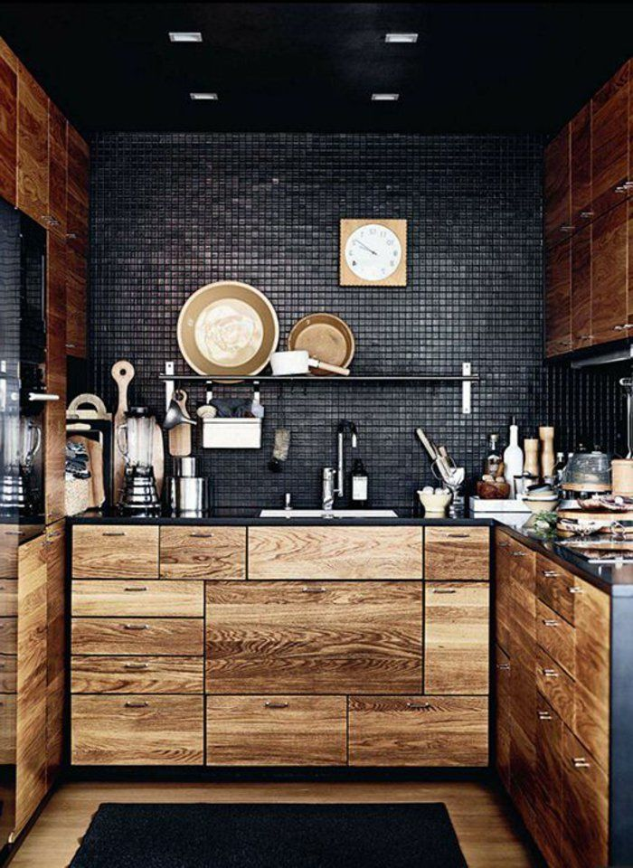la cuisine en bois massif en beaucoup de photos! | photos et cuisine - Mobilier De Cuisine En Bois Massif
