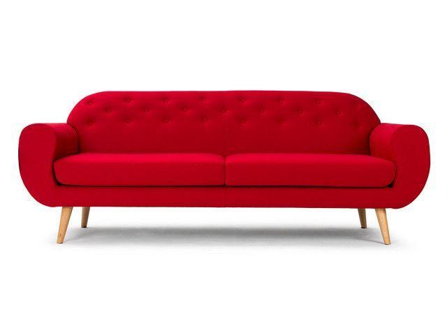 Massivum Retro Sofa Rot Rotes Sofa Sofa 60er Mobel