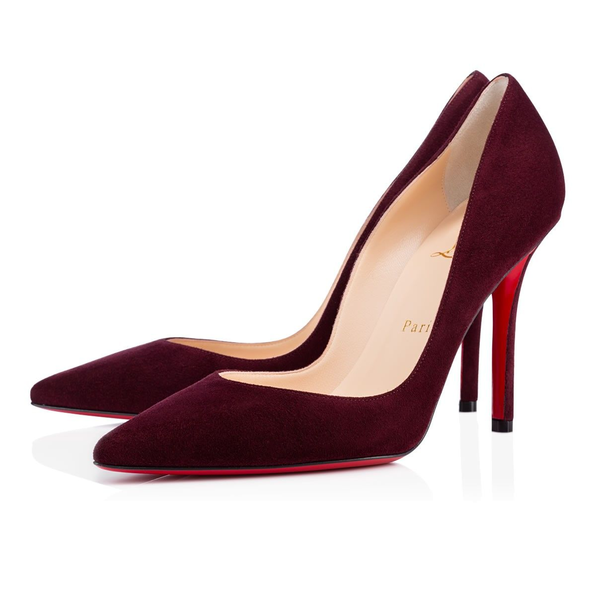 APOSTROPHY SUEDE,LIE DE VIN,Suede,Women Shoes,Louboutin.