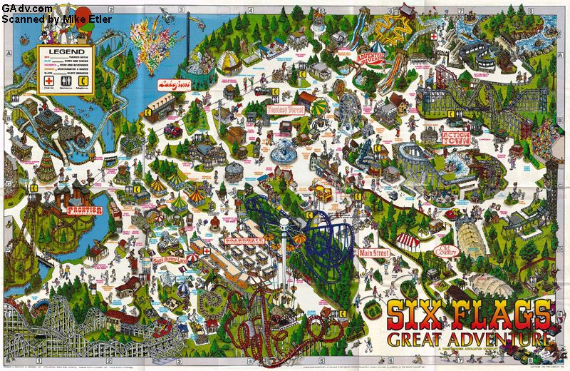 six flags great adventure new jersey attractions