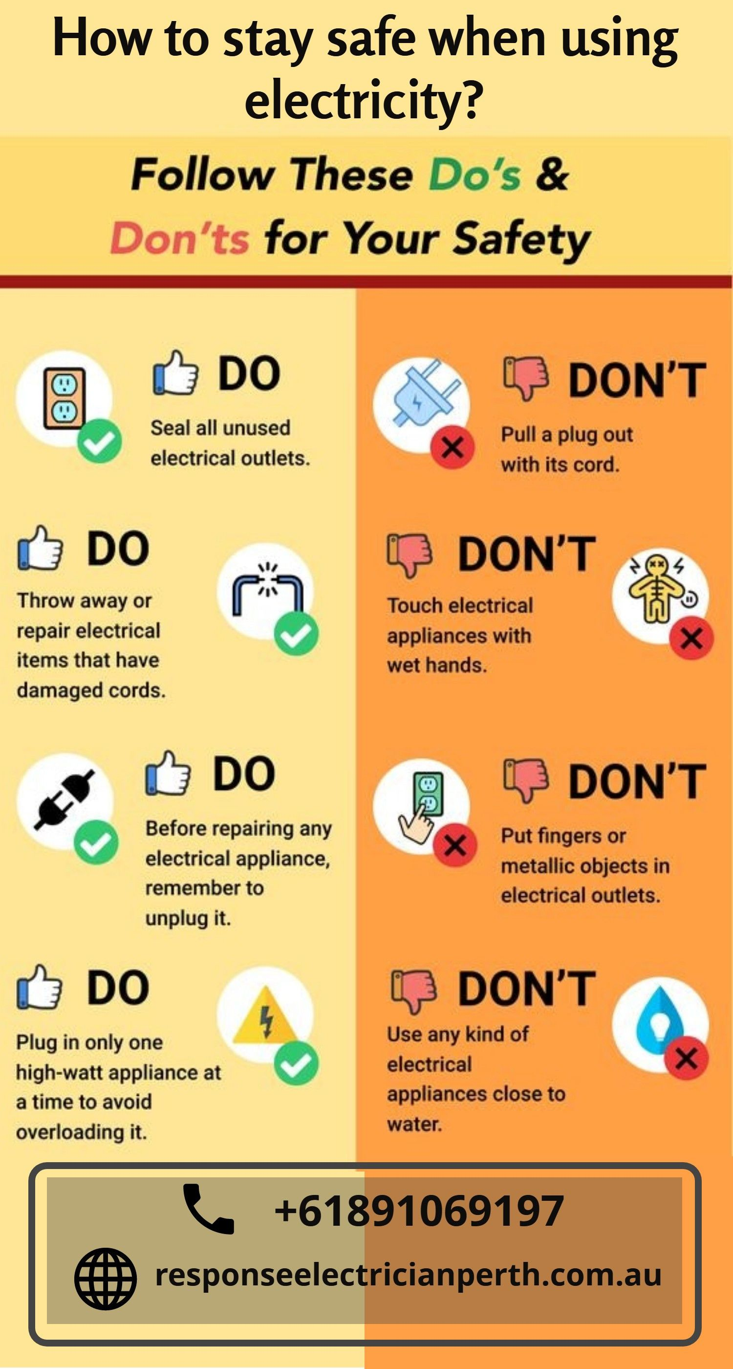 How to stay safe when using electricity electricity