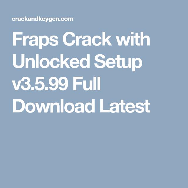 fraps cracked 2016