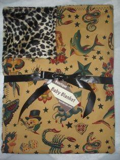 Tattoo punk rockabilly leopard boutique baby by saaridesign. , via Etsy.