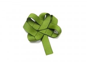 tutorial for woven shamrock