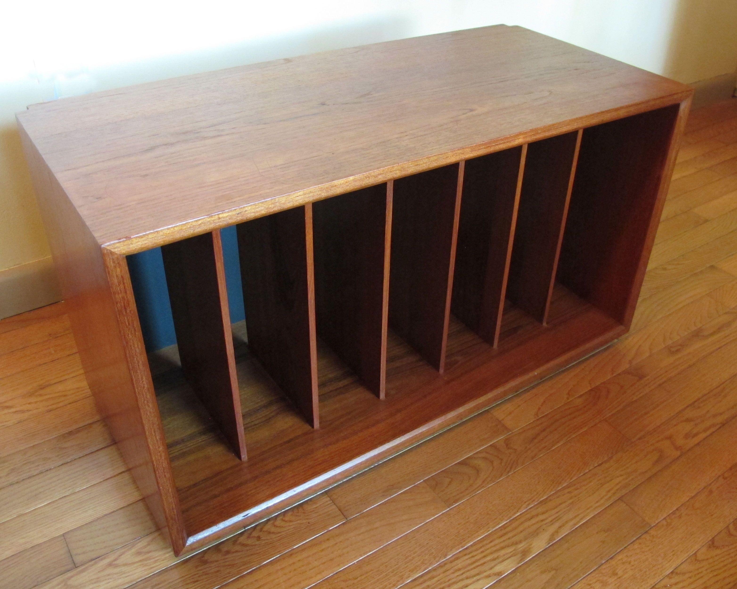 Danish Modern Cado Teak Vinyl Record Cabinet