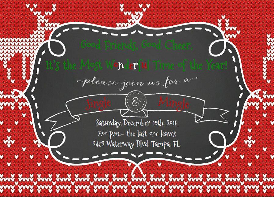 Jingle & Mingle Christmas Party Invitation by TeachPlanParty on Etsy ...