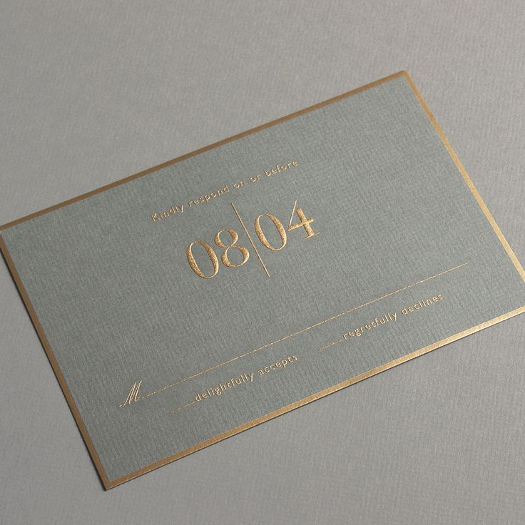 Vera Wang Engraved Gold Bordered Light Grey Wedding